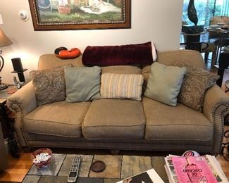 Comfy couch with pillows
