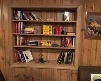 Books, videos, knicknacks