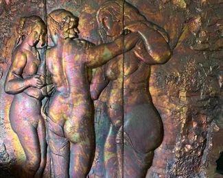 "Huge 3 Sisters Artwork 86""tall x 76""w"