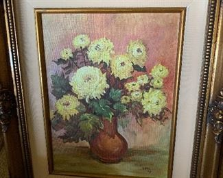 Oil painting with beautiful frame
