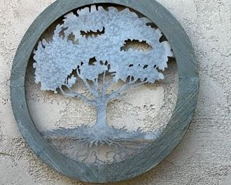 Outdoor tree wall hanging