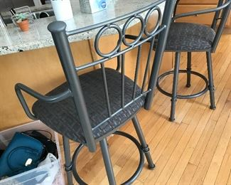 Black Metal Bar Chair Stools