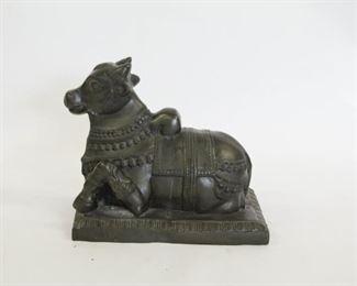 A Large Bronze Figure of Nandi