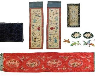 A Group of Embroidered Chinese Textiles