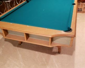 Vintage full size pool table