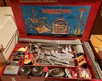 Fine old Erector Set - Complete