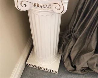 Ceramic Greek Key Pedestal
