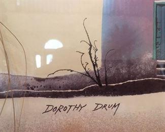 Detail of artist signature