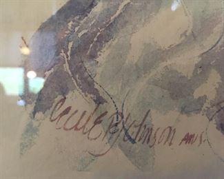 Artist signature Cecile Ryden Johnson