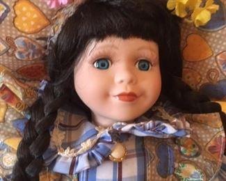 Detail of  collector doll by Katrina Morandi