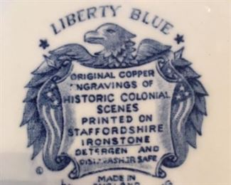 Stamp on Staffordshire ironstone