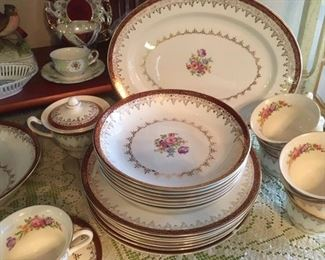 "Fine china service for 6 by Harmony House in ""Heirloom"" pattern"