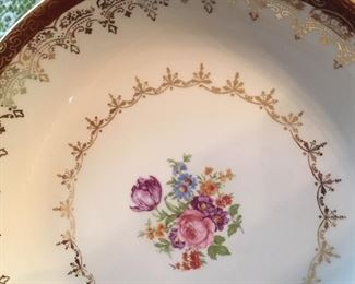 "Detail of ""Heirloom"" china"