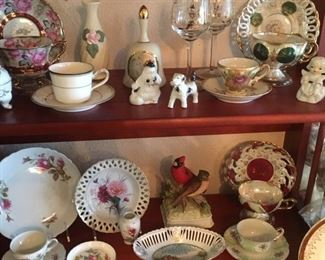 Assorted fine china and porcelain
