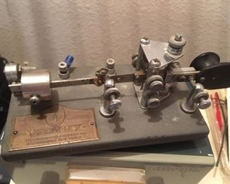 Morse code key by Vibroplex