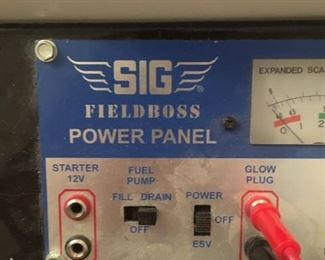Detail of SIG power box for U-Control Line model airplanes