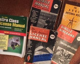 Numerous publications on Ham amateur radios, licensing &  antennas