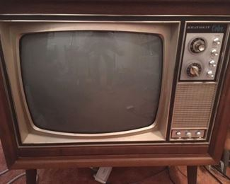 Heathkit color TV console