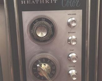 Detail of Heathkit color TV