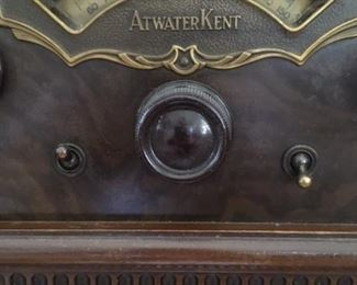 Detail of Atwater Kent Radio (new dial is included; see next photo)