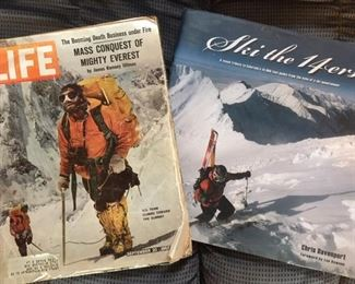 Assorted skiing and climbing literature