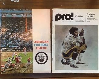 1960s 60-page brochure on the AFL; 1974 PRO! magazine featuring Cowboys vs. 49ers