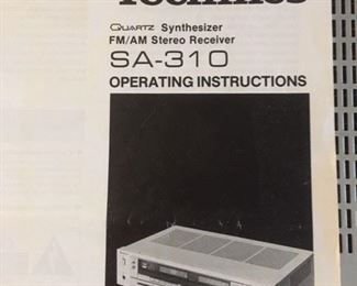 Manual for Technics stereo receiver
