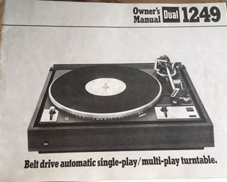 Manual for turntable by Dual