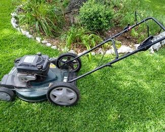 6HP mower with large rear wheels, by Sears/Craftsman