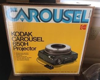 Kodak Carousel Model 650H Projector, in box: there are THREE available