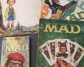 1960s MAD magazines and small paperback