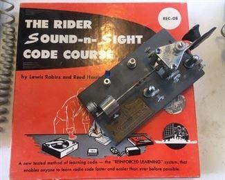 Code Course book and Morse Code Key by Vibroflex; more photos follow
