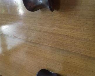 Knob pull detail on MCM dresser