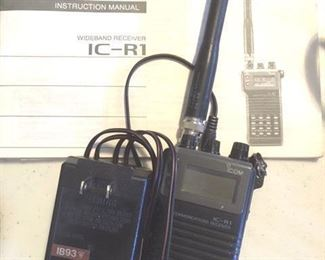 Wideband Receive Model IC-R1 by Icom, with manual