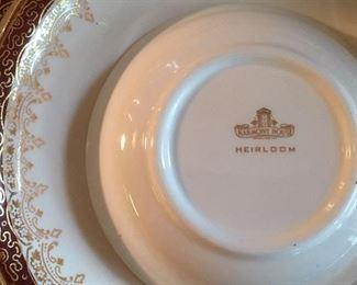 "Sepia mark on fine china ""Heirloom"" by Harmony House"