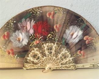 Detail of painted fan