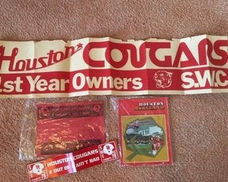 Cougars ephemera, including program of the 1977 Cotton Bowl in Dallas