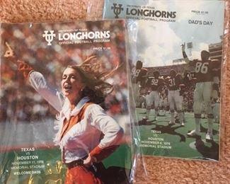"Longhorns programs,  ""Texas vs. Houston"", 1976 & 1978"