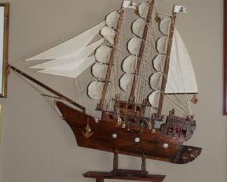 Large sailboat model