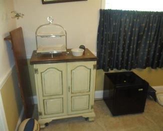 antique server wine cooler