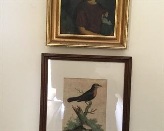 Vintage portrait and more antique birds.