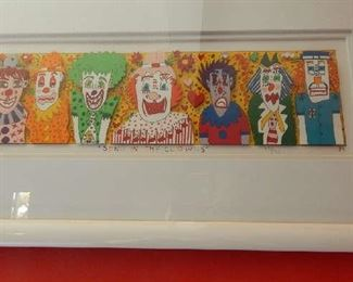 "1989 ART PIECE BY RIZZI ""SEND IN THE CLOWNS"""