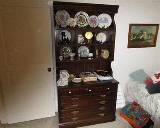 china hutch, plate collection