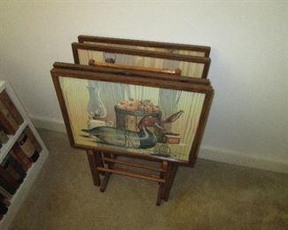 TV tray set