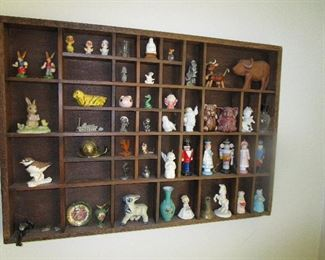 shadow box with contents