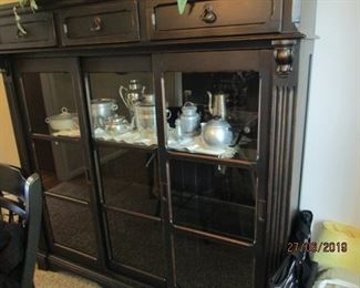 Black contemporary display/China cabinet