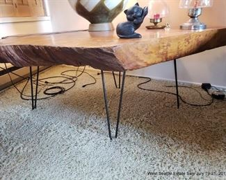 Slab Table with Hairpin Legs