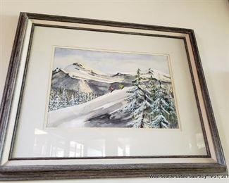 MCM Skiing Watercolor