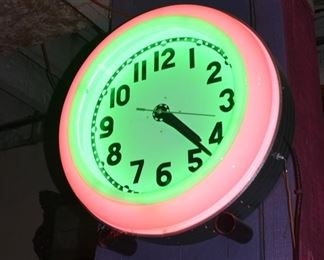 Neon Store Clock