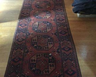 Oriental Rug - Afghan Runner. 100 percent Wool at $400.   2ft 7 in x 9ft 8 in.